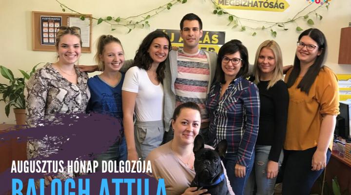 Augusztus hónap dolgozója Budapesten: Balogh Attila